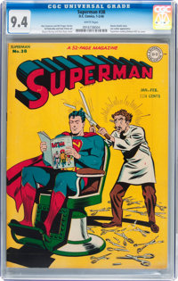 Superman #38 (DC, 1946) CGC NM 9.4 White pages