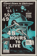 "Movie Posters:Mystery, 48 Hours to Live (Cinema Artists, 1960). One Sheet (27"" X 41"").Mystery.. ..."