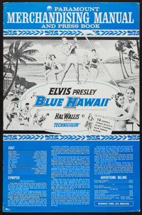 "Blue Hawaii (Paramount, 1961). Uncut Pressbook (16 Pages, 12"" X 18.5""). Elvis Presley"