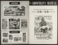 "Creature from the Black Lagoon (Universal International, 1954). Uncut 3-D & 2-D Pressbook (16 Pages, 12"" X..."