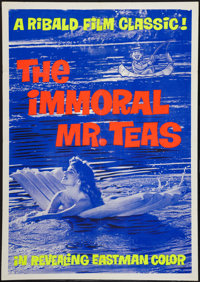 "The Immoral Mr. Teas (Pad-Ram Enterprises, 1959). Day-Glo One Sheet (30"" X 42""). Sexploitation"