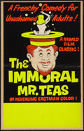 "Movie Posters:Sexploitation, The Immoral Mr. Teas (Pad-Ram Enterprises, 1959). Window Card (14"" X 22""). Sexploitation.. ..."