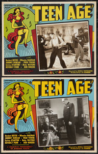 "Teen Age (Continental, 1944). Lobby Cards (2) (11"" X 14"") & Uncut Pressbook (Multiple Pages, 12""..."