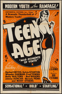 "Teen Age (Continental, 1944). One Sheet (28"" X 42""). Exploitation"