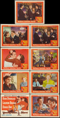 "Movie Posters:Drama, Young Man with a Horn (Warner Brothers, 1950). Lobby Card Set of 8& Lobby Card (11"" X 14""). Drama.. ... (Total: 9 Items)"