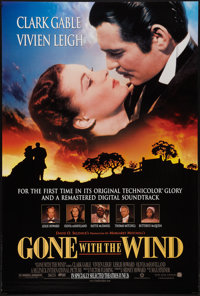 "Gone with the Wind (MGM, R-1998). One Sheet (27"" X 40""). Academy Award Winners"