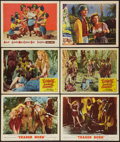 "Movie Posters:Adventure, Trader Horn & Others Lot (MGM, R-1953). Lobby Cards (6) (11"" X14"") & One Sheet (27"" X 41""). Adventure.. ... (Total: 7 Items)"