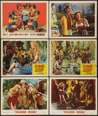"""Trader Horn & Others Lot (MGM, R-1953). Lobby Cards (6) (11"""" X 14"""") & One Sheet (27"""" X 41..."""