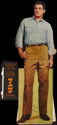 "Giant (Warner Brothers, 1956). Rock Hudson Standee (23.5"" X 74.5"") with Side Credits (8"" X 23""). Dra..."