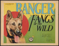 "Movie Posters:Action, Fangs of the Wild (FBO, 1928). Title Lobby Card (11"" X 14""). Action.. ..."