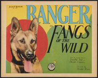 "Fangs of the Wild (FBO, 1928). Title Lobby Card (11"" X 14""). Action"