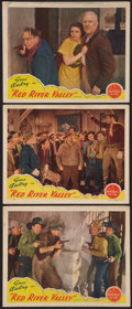"Movie Posters:Western, Red River Valley (Republic, 1936). Lobby Cards (3) (11"" X 14"").Western.. ... (Total: 3 Items)"