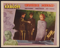 """The Invisible Menace (Warner Brothers, 1938). Other Company Lobby Card (11"""" X 14""""). Mystery"""