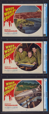"""When Worlds Collide & Other Lot (Paramount, 1951). CGC Graded Lobby Cards (3) & Lobby Card (11"""" X 1..."""