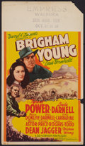 "Movie Posters:Drama, Brigham Young (20th Century Fox, 1940). Mini Window Card (8"" X14""). Drama.. ..."