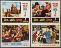 """Laurel and Hardy Lot (Various,1954-1965). Lobby Cards (4) (11"""" X 14""""). Comedy. ... (Total: 4 Items)"""