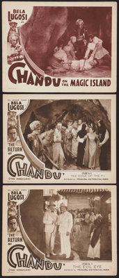 """The Return of Chandu & Other Lot (Principal Distributing, 1934). Lobby Cards (3) (11"""" X 14""""). Chapter..."""