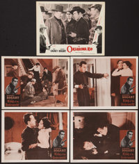 """King of the Underworld & Other Lot (Warner Brothers, R-1956). Lobby Cards (5) (11"""" X 14""""). Crime..."""