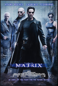 """The Matrix (Warner Brothers, 1999). One Sheet (27"""" X 41"""") DS Advance. Science Fiction"""