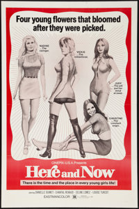 "Initiation (Cinepix Film Properties, 1970). One Sheet (27"" X 41""). Sexploitation. Alternate Title: Here and No..."