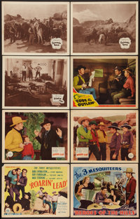 "The Three Mesquiteers Lot (Republic, 1930s & R-1940s). Title Lobby Cards (2) (11"" X 14"") & Lob..."