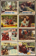"Movie Posters:Adventure, Trail of the Yukon and Others Lot (Monogram, 1949). Title LobbyCards (3) & Lobby Cards (5) (11"" X 14""). Adventure.. ...(Total: 8 Items)"