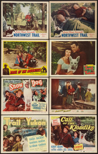 "Trail of the Yukon and Others Lot (Monogram, 1949). Title Lobby Cards (3) & Lobby Cards (5) (11"" X 14""..."