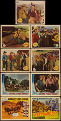 "Movie Posters:Western, Under Texas Skies & Others Lot (Republic, 1940). Title LobbyCards (2) (11"" X 14"") & Lobby Cards (7) (11"" X 14""). Western..... (Total: 9 Items)"