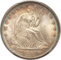 Seated Half Dollars, 1861 50C MS65+ PCGS. CAC....