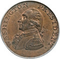 Colonials, 1791 1C Washington Small Eagle Cent MS66 Brown PCGS. CAC. Baker-16,W-10630, R.3....