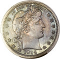 Proof Barber Quarters, 1914 25C PR66 PCGS....