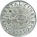 Colonials, 1776 $1 Continental Dollar, CURRENCY, Pewter AU55 PCGS. Newman 2-C;W-8455, R.3. ...