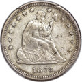 Seated Quarters, 1873 25C Closed 3 VF30 PCGS. CAC....