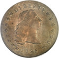 Early Dollars, 1795 $1 Flowing Hair, Three Leaves MS61 NGC. B-5, BB-27, R.1....