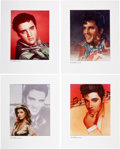 Music Memorabilia:Posters, Elvis Presley TV Guide Portrait Prints Group (TrianglePublications,1985-88).... (Total: 4 Items)