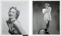 Movie/TV Memorabilia:Autographs and Signed Items, Two Marilyn Monroe Black and White Publicity Photographs, Circa1953.... (Total: 2 Items)
