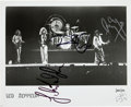 Music Memorabilia:Autographs and Signed Items, Led Zeppelin Band-Signed Photo....
