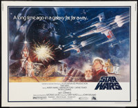 "Star Wars (20th Century Fox, 1977). Half Sheet (22"" X 28"") Style A. Science Fiction"