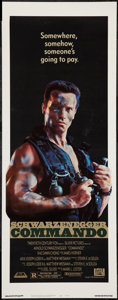"Movie Posters:Action, Commando (20th Century Fox, 1985). Insert (14"" X 36""). Action.. ..."