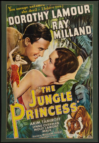 "The Jungle Princess (Paramount, R-1946). One Sheet (27"" X 40""). Adventure"