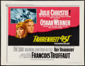 "Movie Posters:Science Fiction, Fahrenheit 451 (Universal, 1967). Half Sheet (22"" X 28""). ScienceFiction.. ..."