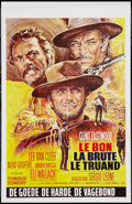 """Movie Posters:Western, The Good, the Bad and the Ugly (United Artists, R-1970s). Belgian(14"""" X 21.5""""). Western.. ..."""