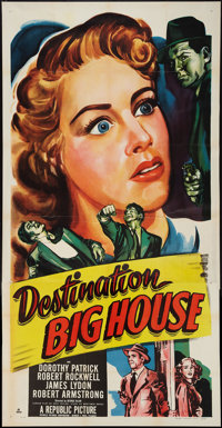 "Destination Big House (Republic, 1950). Three Sheet (41"" X 81""). Crime"