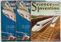 Books:Periodicals, Science and Invention. Group of Three Issues. ExperimenterPublishing, 1928-1931. First edition, first printing. Min...(Total: 3 Items)