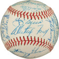 Autographs:Baseballs, 1961 New York Yankees Team Signed Baseball, PSA/DNA NM-MT 8....