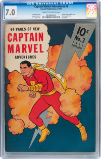 Captain Marvel Adventures #3 (Fawcett Publications, 1941) CGC FN/VF 7.0 Cream to off-white pages