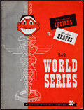 Autographs:Others, 1948 Signed World Series Program Cleveland Vs. Boston Braves(Signed By 5)....