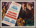 """Movie Posters:Crime, Calling Bulldog Drummond and Other Lot (MGM, 1951). Half Sheet (22""""X 28"""") Style B and Italian Locandina (13"""" X 27"""") . Crime... (Total:2 Items)"""