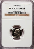 Proof Roosevelt Dimes: , 1986-S 10C PR70 Ultra Cameo NGC. NGC Census: (73). PCGS Population(173). Numismedia Wsl. Price for problem free NGC/PCGS ...