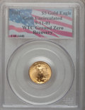 Modern Bullion Coins, 2001 G$1 Tenth-Ounce Gold Eagle Gem Uncirculated PCGS. Ex: 9-11-01WTC Ground Zero Recovery. (#9955)...